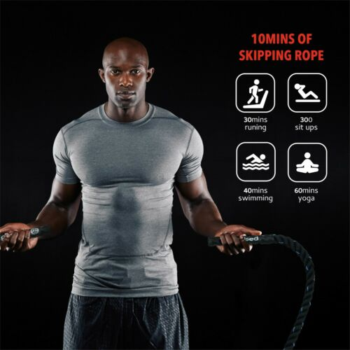 Heavy Jump Rope for Fitness Weighted Adult Skipping Battle Ropes Total Body Work
