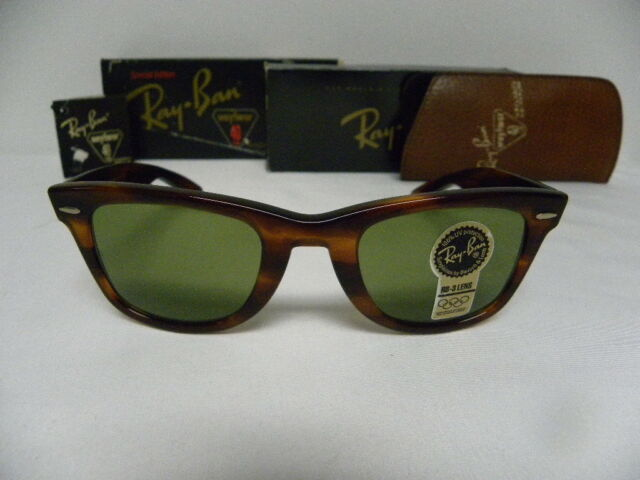 62a4a7ad4df New Vintage B L Ray Ban Wayfarer 40 Years Tortoise RB-3 W1399 Limited  Edition
