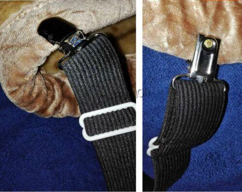 4Pcs Adjustable Bed Sheet Elastic Strap Suspender Gripper Holder Fitted Belt Set