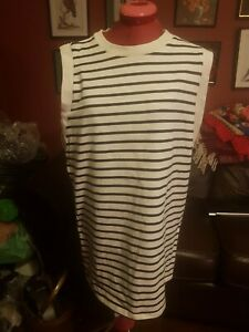 petit-bateau-white-and-blue-striped-top-100-cotton-tunic-size-medium