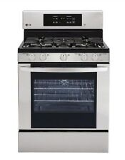 LG 5-Burner Freestanding 5.4-cu ft Self-Cleaning Convection Gas Range (Stainless