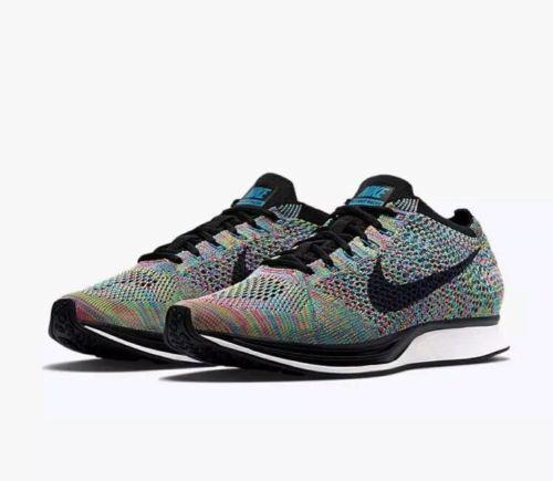 Nike Flyknit Racer Running Zapatos  para hombre 5 Verde 304 huelga Azul Lagoon 526628 304 Verde 95e8df