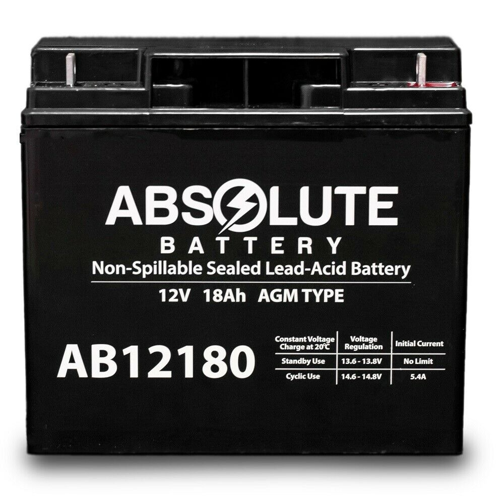 NEW AB12180 12V 18AH Motorino BTr Electric Scooter Battery