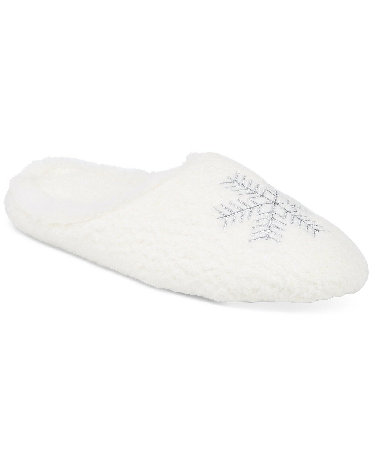 NWT Charter Club White Snowflake Clog Slippers Slip-On Shoes Indoor Outdoor M