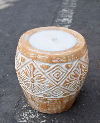 Energisch Große Kerze 23cm Deko Kerzenständer Aus Holz Fackel Ca. 4,4kg Feng Shui Lounge Eleganter Auftritt