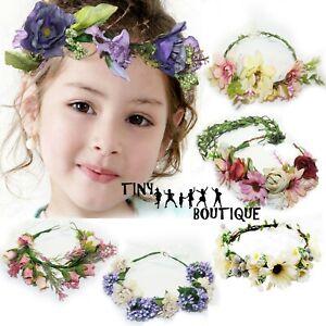 Baby Flower Headband Newborn Hairband Garland Headwear Hair Band Crown Decors