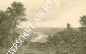 Burg Schwaneck im Isartal - Pullach - nach einem Gemälde - um 1900      X 45-13