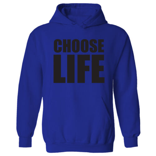 Womens Choose Life Slogan Retro 80/'s Novelty Pullover Hoodie NEW UK 12-20