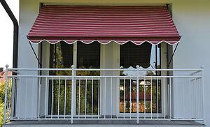 Gartenbauten & Sonnenschutz Klemm-markise Mit Manuellem Kettenantrieb Dralon 2200 Markisen, Terrassenüberdachung