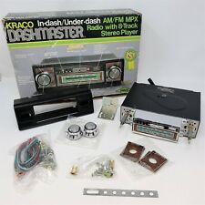 Kraco Dashmaster Kid 566 Amfm Inunder Dash Car Stereo With 8 Track Open Box