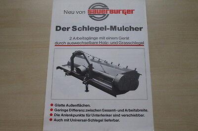 Business & Industrie Agrar, Forst & Kommune Sauerburger Schlegelmulcher Prospekt 198? SchöN 163497