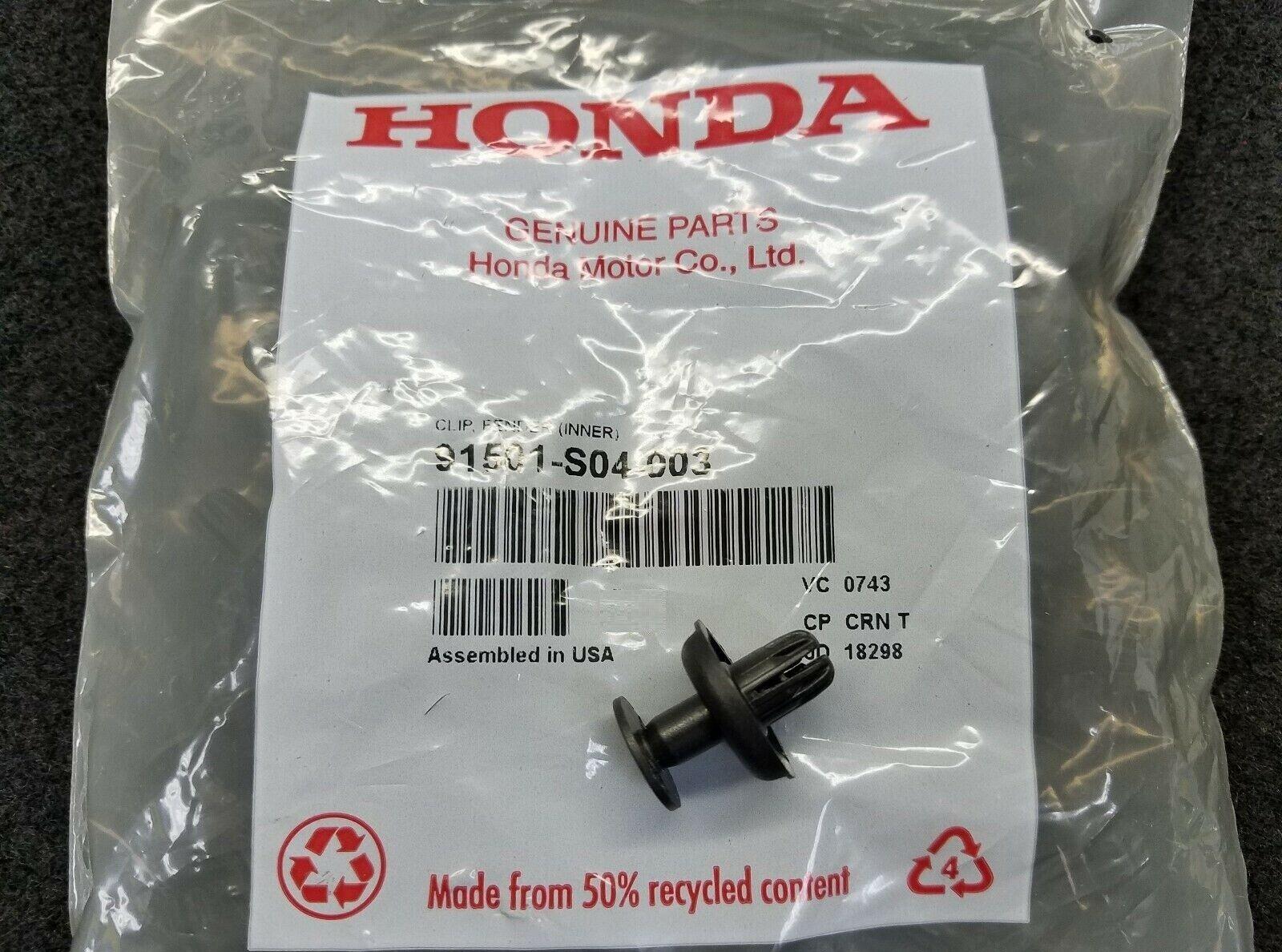 INNER Genuine Honda 91501-S04-003 CLIP FENDER