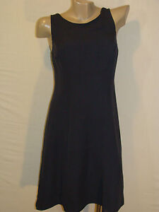 d368450eebb Image is loading TALBOTS-PURE-SILK-NAVY-BLUE-CRISS-CROSS-BACK-