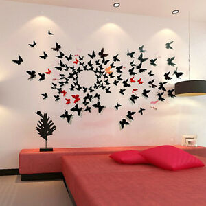 image is loading 3d butterfly wall stickers wall decors wall art - Wall Decors
