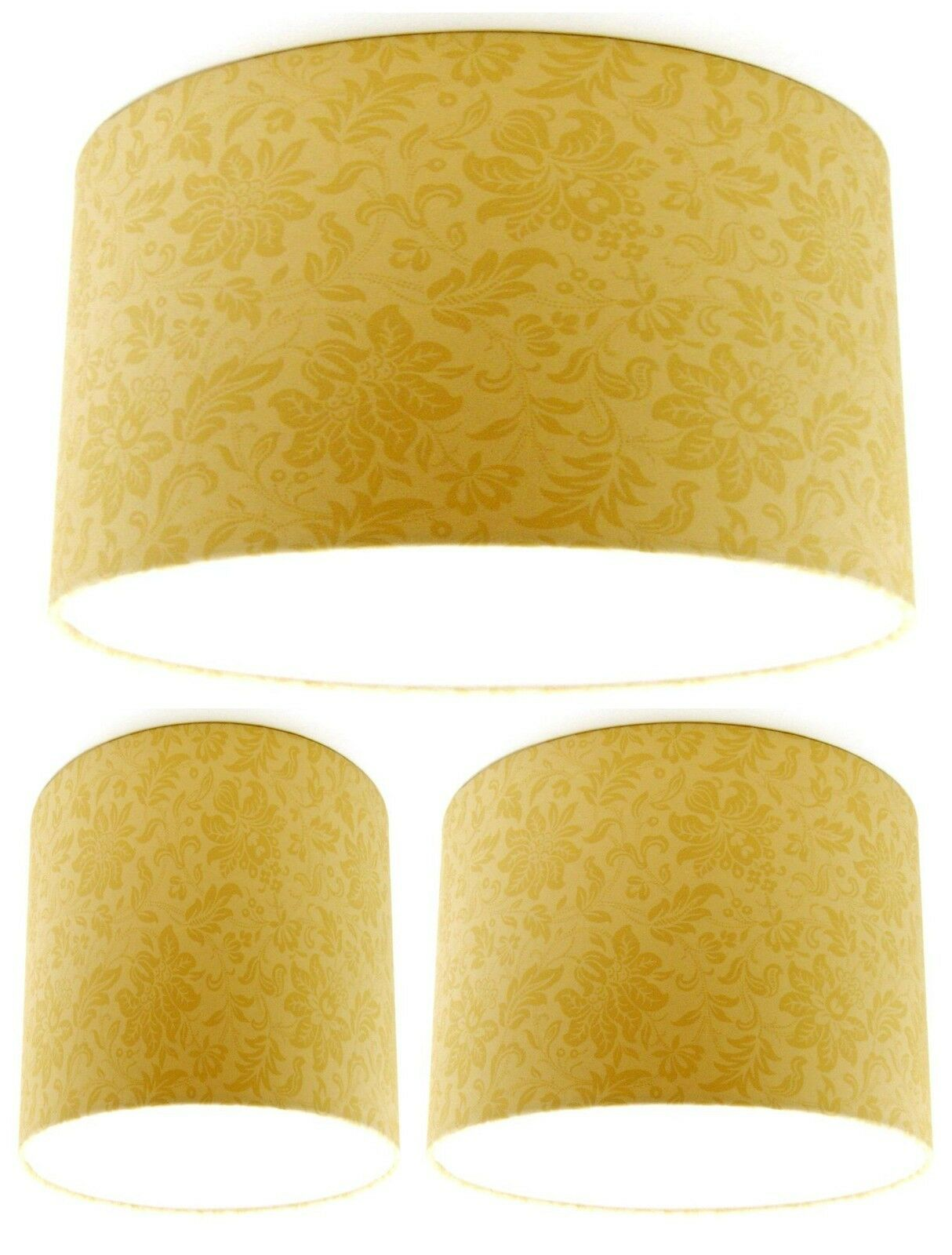 NEW Lampshade Handmade with Laura Ashley Percy Gold Wallpaper FREE P&P
