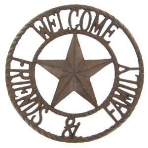 Image Is Loading Rustic Metal Star Welcome Friends Amp Family Sign
