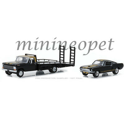 GREENLIGHT 33130 A 1968 FORD F-350 RAMP TRUCK with 1966 SHELBY MUSTANG 1//64 BK