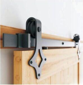 Premium Barn door kit PSDBD-037 (2m, Black)