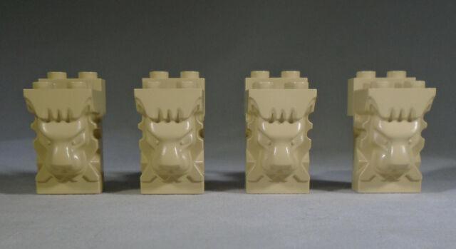 2 x 3 x 3 Studs 30274 Lego 2 x Grey Lion Head