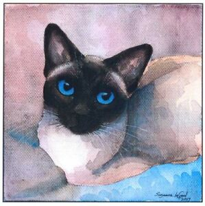 Siamese-cat-art-print-large-traditional-from-original-painting-Suzanne-Le-Good