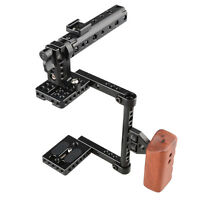 Us Stock Camvate Dslr Camera Cage Kit Top Handle Wood Grip For Canon 600d 80d