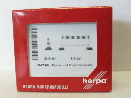 UU2069 HERPA 052566 Pylonen und Absperrschranken OVP 1:87