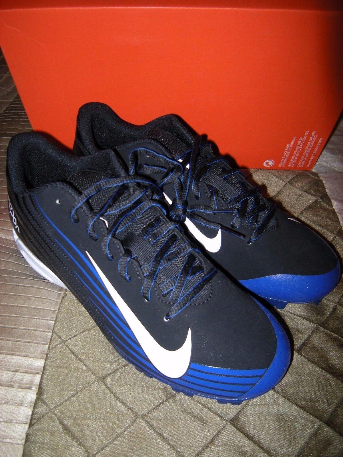Brand New Mens Black & Blue Nike Vapor Strike 2 Baseball Cleats, Comfortable Casual wild