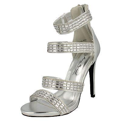 R22G Anne Michelle F1R0410 Ladies Black//Diamate High Heel Eve Shoes