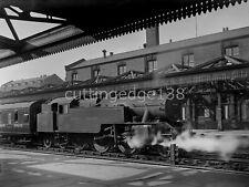 GLASS Railway Negative: Fairburn 42185 Nottingham Midland c1948-50 5/453