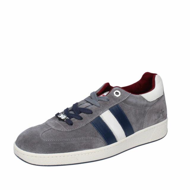 scarpe uomo D/'ACQUASPARTA GHIBERTI sneakers camoscio bordeaux verde grigio blu