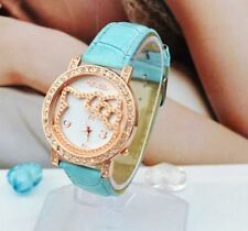 Big Face Lovely Hello Kitty Girls Ladies Wrist Watch Quartz Fashion Blue