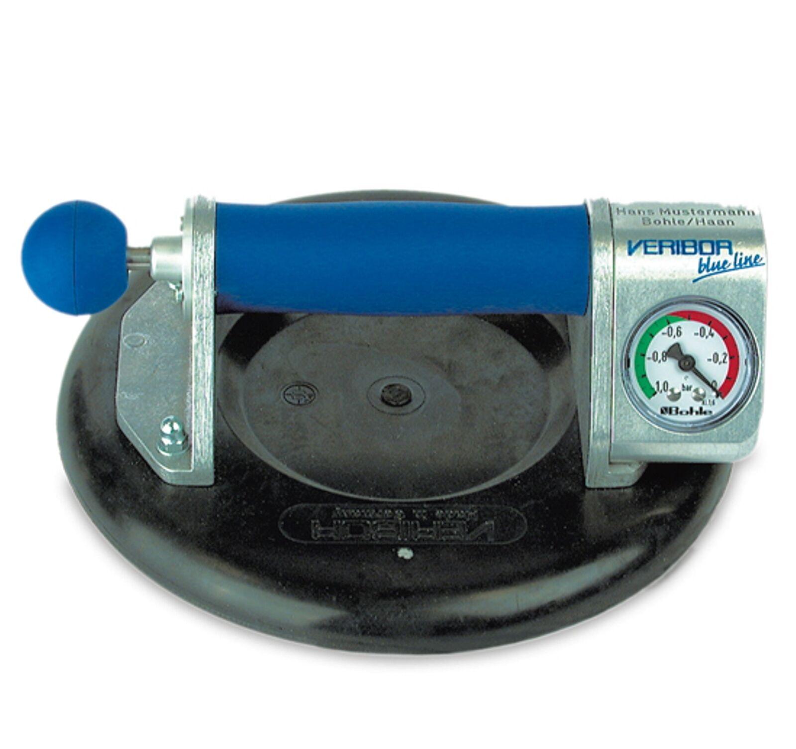 Veribor® Blau line Zugpumpensauger mit Manometer, im Koffer, Sauger,