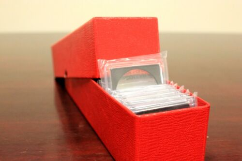 90 Assorted 2x2 Plastic Snaplock BCW Coin Holder /& Red Quality Storage Boxes NEW