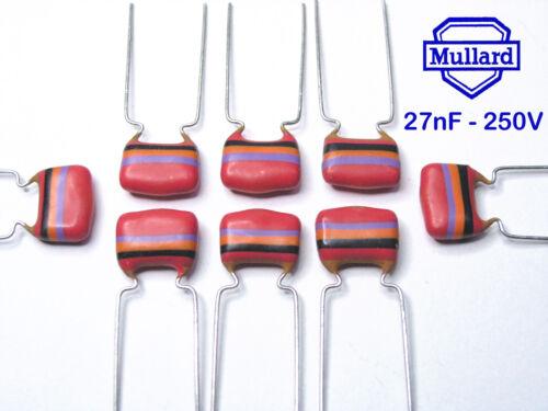 Mullard Tropical Fish Capacitors  27nF x 1000 pieces 250V ~22nF