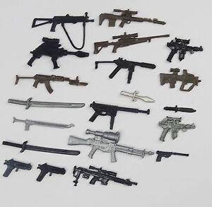 random-lot-20-GI-Joe-Cobra-3-75-034-figure-039-s-Accessories-Guns-sword-Weapons