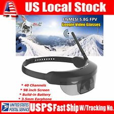 """ENMESI E632 5.8G 40CH FPV Goggles 3D Video Glasses 98"""" for H501S H502S Drone NEW"""