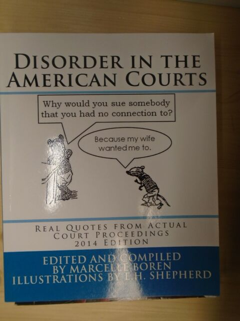 Disorder In The American Courts Book
