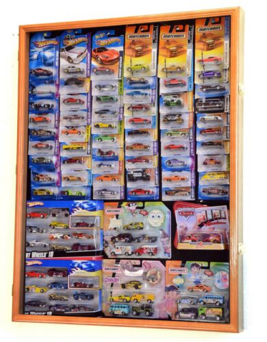 Hot Wheels Matchbox Model Cars Display Case Cabinet for cars in retail box
