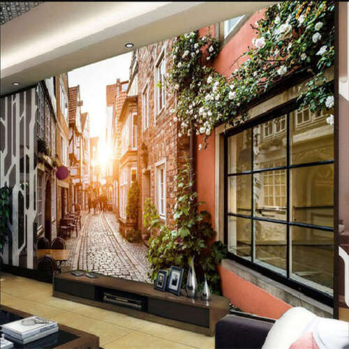 Fresh Oldest Town 3D Full Wall Mural Photo Wallpaper Printing Home Kids Decor