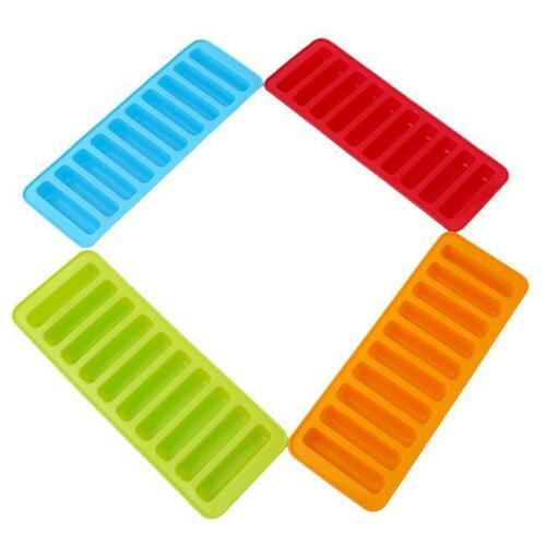 Bouteille d/'Eau Glace Plateaux cylindre en forme de Silicone Moules Cube Stick Tube Sports Q
