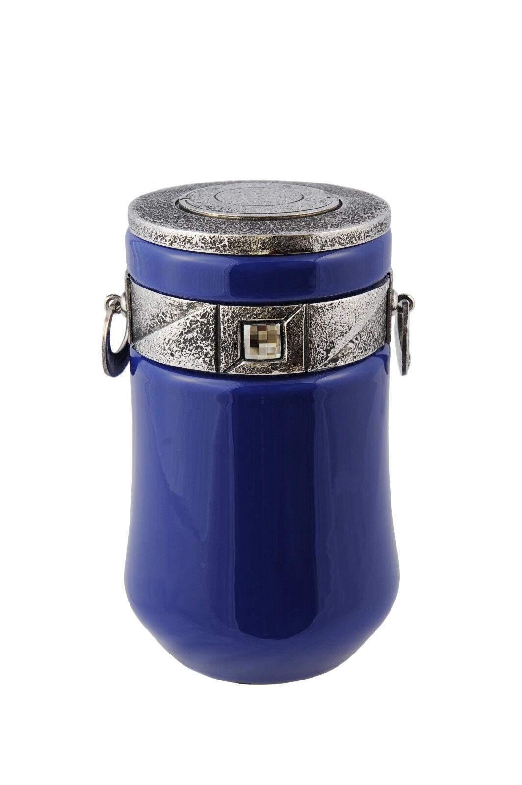 Exclusivo PRECIOSO CRISTAL incineración incineración incineración urn-azul con Funeral Urna Para Adultos ef585b