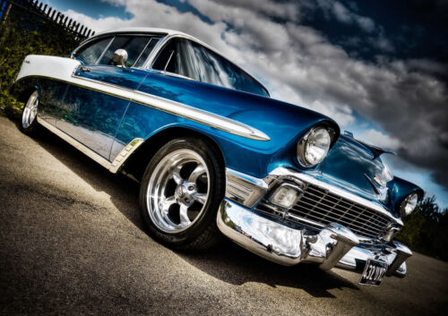 """1958 CHEVROLET BEL AIR NEW A4 POSTER GLOSS PRINT LAMINATED 11.7/""""x8.3/"""""""