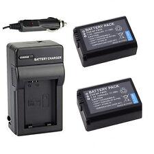 2x 1500mAh NP-FW50 Battery + Charger For Sony Alpha NEX-5N NEX-5R NEX-C3A/B