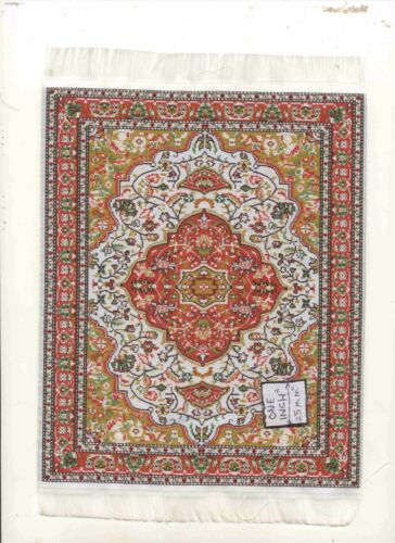 Rug  7L  miniature dollhouse woven fabric carpet  1pc 1//12 scale Turkish