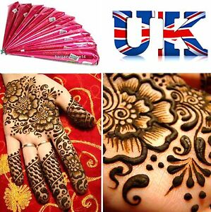 3 X Full Body Art Fresh Henna Mehndi Cones Excellent Quality 100