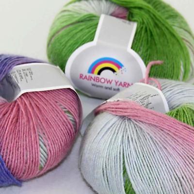 3balls x 50gr Soft Crochet Acrylic Wool Cashmere Hand Knitting Yarn Knitwear 07