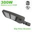 300W LED Parking Lot Area Light Shoebox Pole Mount Slip Fitter Trunnion