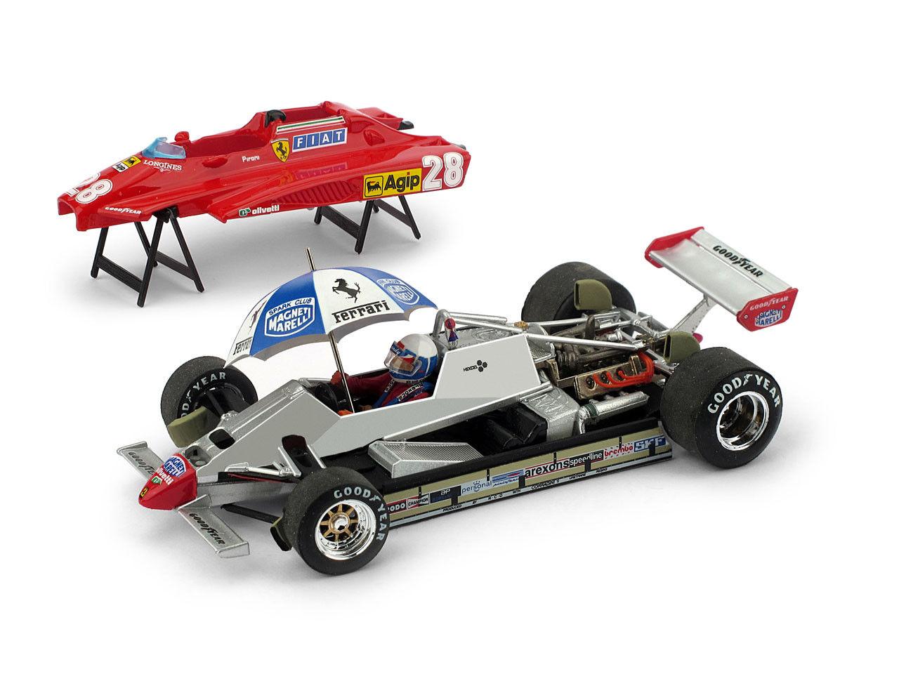autorizzazione ufficiale  p014 p014 p014 - BRUMM FERRARI 126c2 GP San Marino 1982-Pironi-personaggio + OMBRELLO - 1 43  vendita outlet online