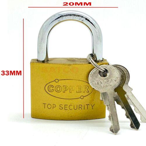 Heavy Duty PADLOCK 3 Keys Cast Iron Safety Security Shackle Lock Aluminium