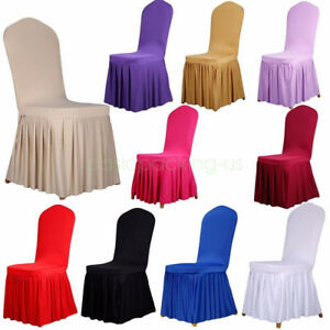 Stupendous Details About Wedding Bar Dining Chair Covers Seat Spandex Stretch Swing Pleated Full Cover Inzonedesignstudio Interior Chair Design Inzonedesignstudiocom